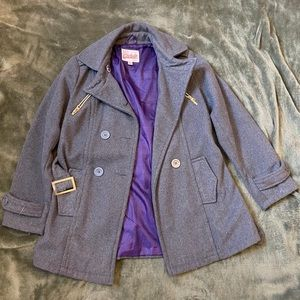 Gray Winter Pea Coat
